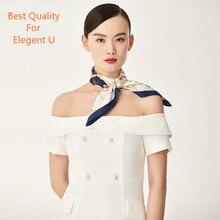 Luxury Brand Shawl Silk Scarf Women Floral Print 100% Twill Scarfs Female 50cm Fashion Square Shawls Scarves For Ladies