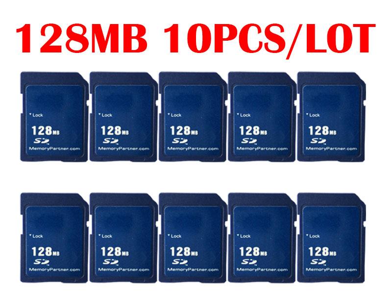 10 PCS/Lot Carte Mémoire SD Carte 128 MB Mini SD pour Fournisseur En Gros de Haute Qualité Pas Cher Nouveau