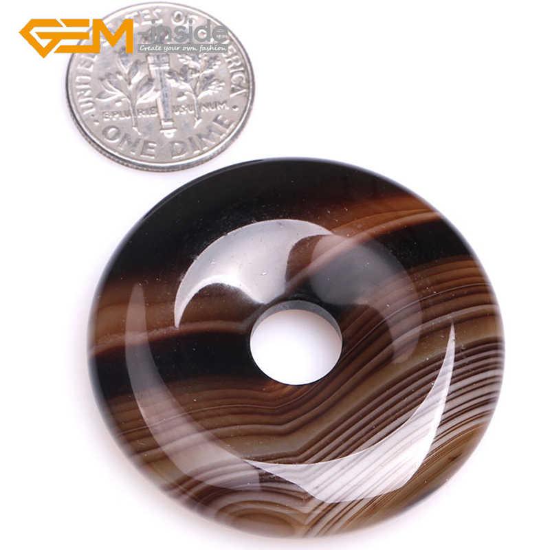40mm 35mm 30 milímetros Rosquinhas Anéis Vermelho/Café Cor Marrom Natural Onyx Ágatas Pedra Sardônica Contas para colar de jóias Fazendo DIY