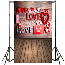 Photography Backdrops 150X90cm Valentine's Day Love Heart Photography Backdrop Vinyl Photo Background Prop Gifts 2019(China)