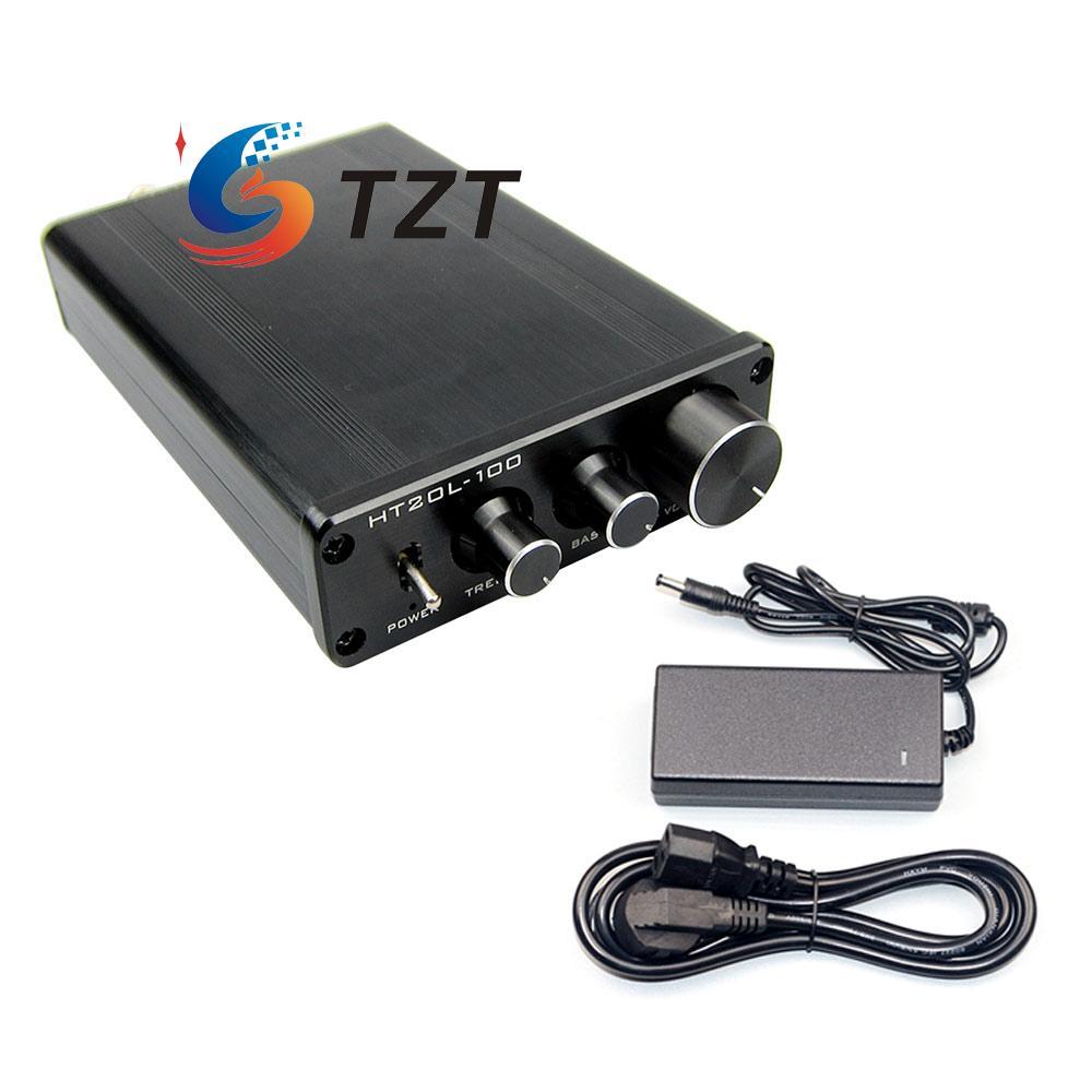 HIFI Power Amplifier 2.0 Dual Channel 50W+50W Digital Audio AMP + Power Supply HT21L-100 bluetooth 4 0 digital 2 1 class d hifi power amplifier board 3 channel amp module dual power supply mode free shipping
