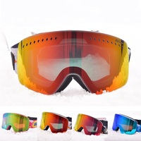 Double Lenses Anit fog Ski Goggles for Men Women UV400 Snow Glasses Skiing Mask Large Spherical Snowboard Goggle Winter Eyewear
