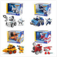 Genuine Super Wings 15CM Big car Transformation robot Action Figures Toys super wing season 5 Mini Jett toy For Christmas gift
