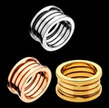 2017 New arrival High quality New Famous brand jewelry Multilayer layers of titanium steel spring wide rings rings for women men