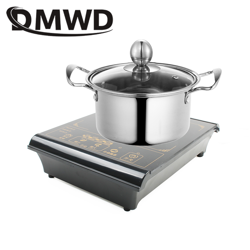 DMWD 800W Mini Multifunction Electric Induction Cooker Milk Water Boiler Stove Coffee Burner Noodle Cooking Hotpot Heating Plate цена и фото