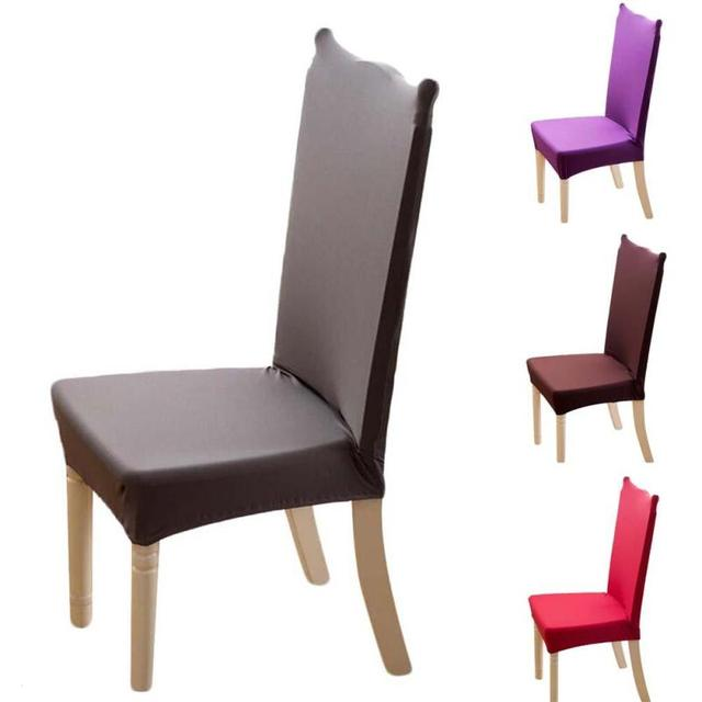 Superbe Solid Color Chair Covers Spandex Covers For Kitchen Chairs Modern Armchair  Seat Covers For Dining Room