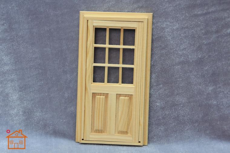 2Pcs Dollhouse Mini Door For 1:12 Miniature Accessory Home Decor DIY A8S6