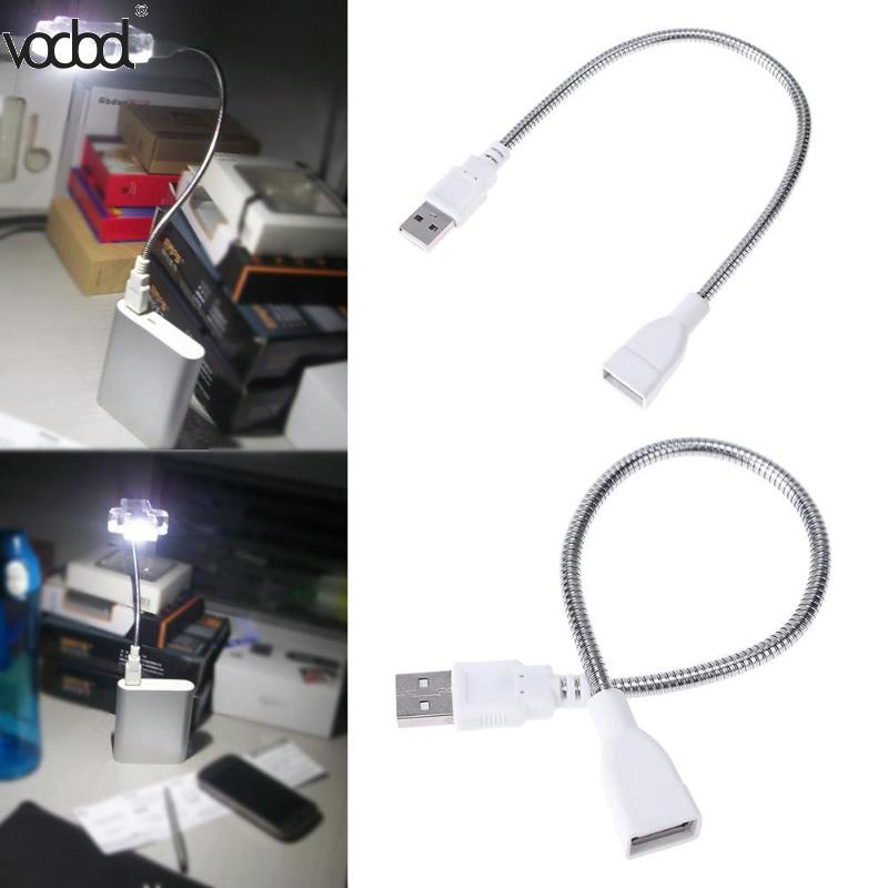 Image 2 - USB Female Adapter Cable Male to Female Extension Cable LED Light Adapter Cable Metal Hose for Portable Power Supply Notebook-in Computer Cables & Connectors from Computer & Office
