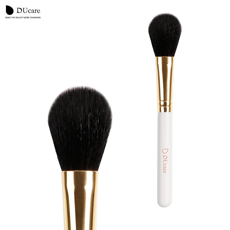 DUcare blush børste 1PCS New Arrival pulver børste professionelle makeup børster høj kvalitet hvid håndtag top ged hår børster