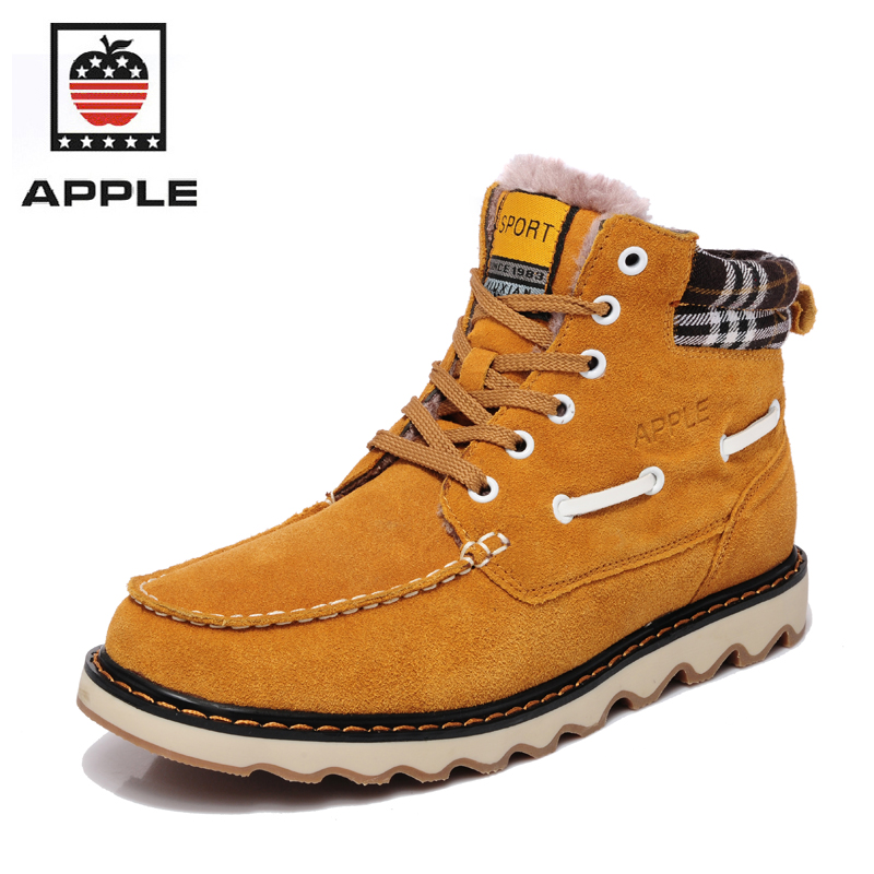 APPLE 2017 brand new High top warm snow font b boots b font Men s suede