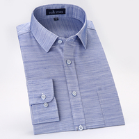 Men S Cotton Linen Slim Fit Casual Thin Shirts With Left Chest Pocket Solid Color Long