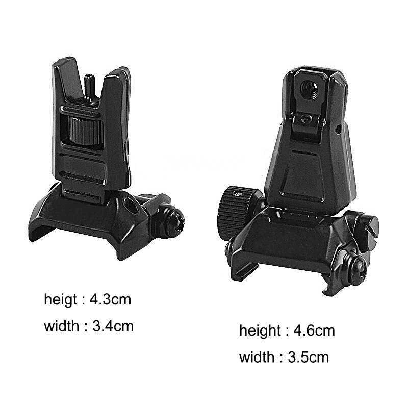 Image 2 - Rear Sight Tactical Flip Up Rapid Transition BackUp Front & Rear Sight Set for 20mm Picatinny RIS /RAS Rail Hunting Scope MountRiflescopes   -