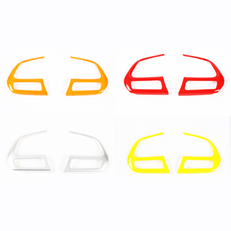 For Jeep Renegade Compass 2017 font b Car b font Steering Wheel Decoration Trim Steering wheel