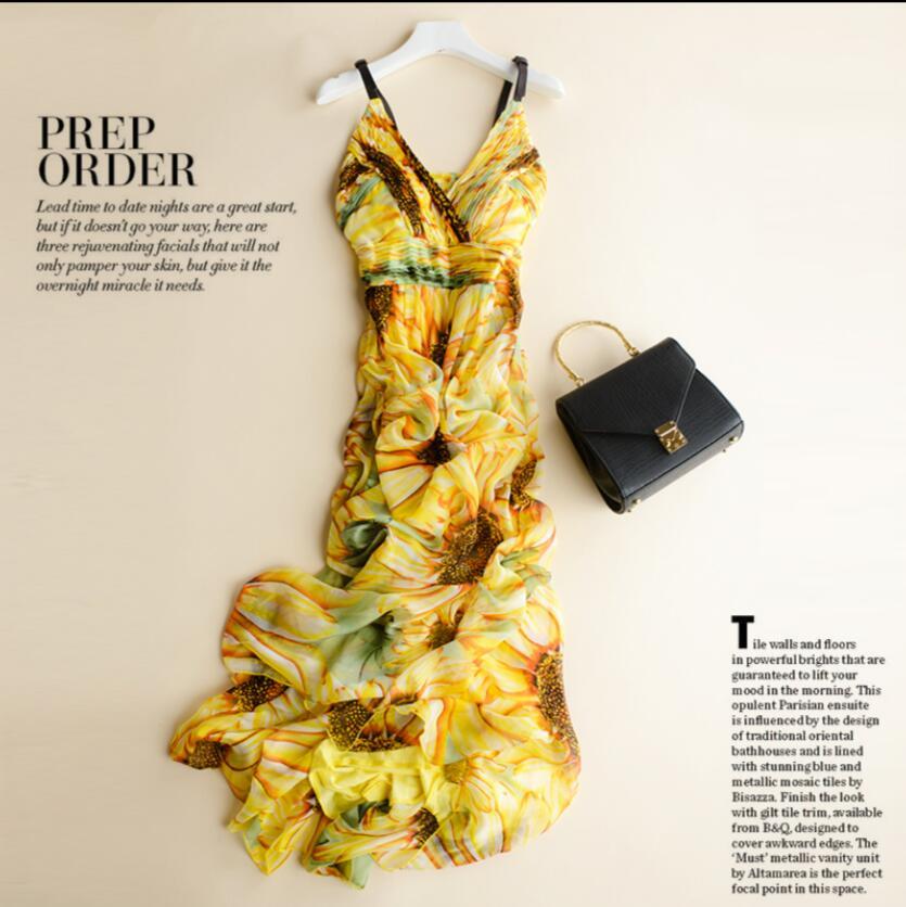 Ženska svilena haljina dugačka haljina 100% prirodna svilena - Ženska odjeća - Foto 3