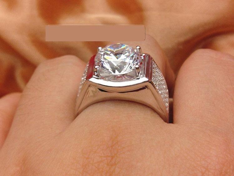 1ct Mewah Pabrik Grosir Merek Berlian Sintetis Perhiasan untuk Pria US Sterling Silver Perhiasan Pria|diamond jewelry|silver jewelrysterling silver jewelry - AliExpress