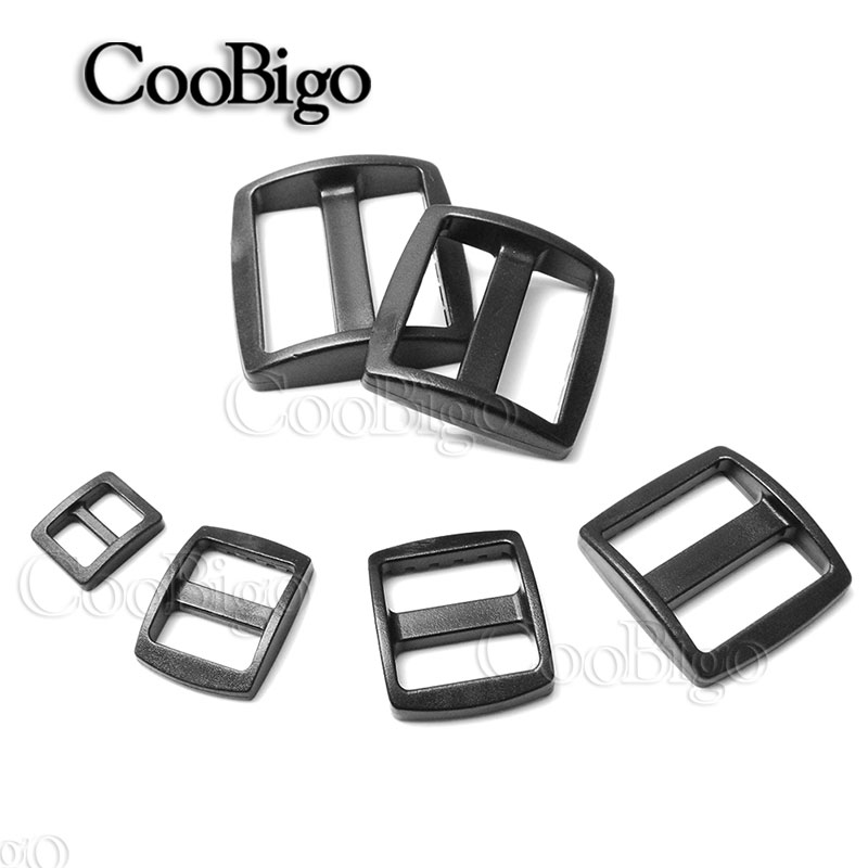 Apparel Sewing & Fabric 5pcs 1 Plastic Black Curve Slider Tri-glide Adjust Tri-ring Buckle Dog Collar Harness Backpack Strap Webbing Bag Parts To Have A Unique National Style