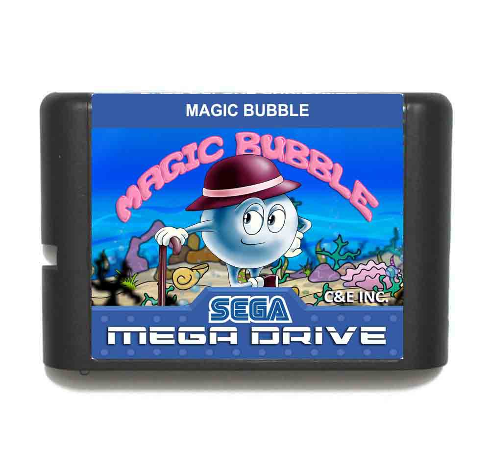 Magic Bubble 16 bit MD Game Card For Sega Mega Drive For Genesis