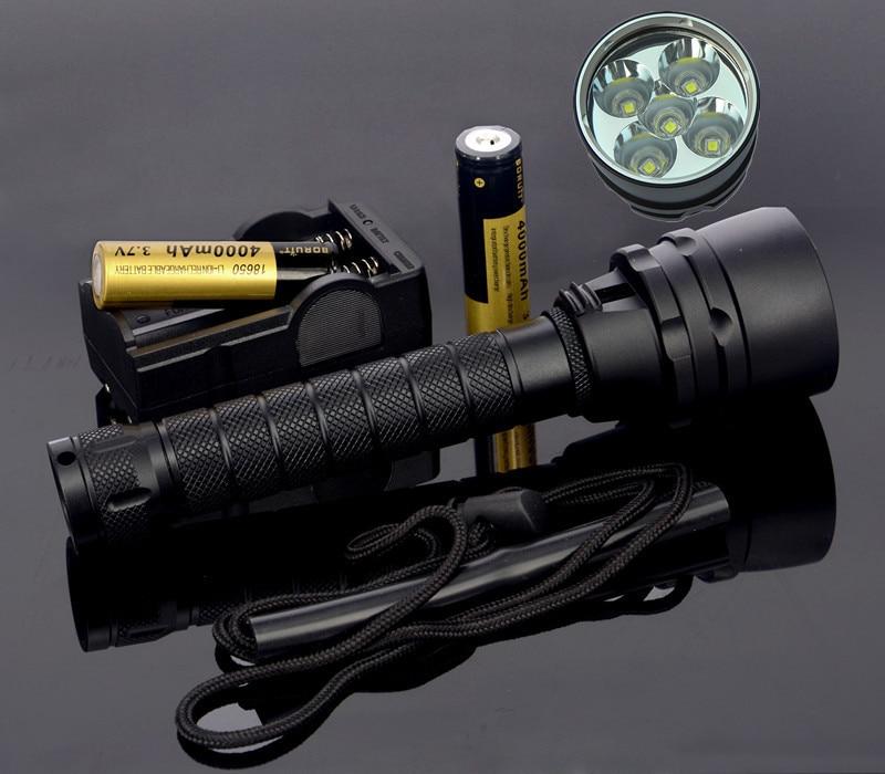 2015 New 8000 Lumen Underwater Flashlight 5x XML L2 LED Scuba Diving Flashlight Diver Torch Light 18650 Lanterna фонарик 10 xml l2 l2 2500lm 5 18650 3xaaa