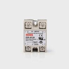 цена на SSR 40DA  input 3-32V DC load 24-380V AC single phase DA solid state relay Include Heat Sink SSR-40DA