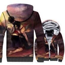 Hot Fashion 2018 Autumn Winter One Piece Luffy Design Hoodies Hip Hop Sweatshirt High Quality Mens Jakcet Masculine Jacket Coat