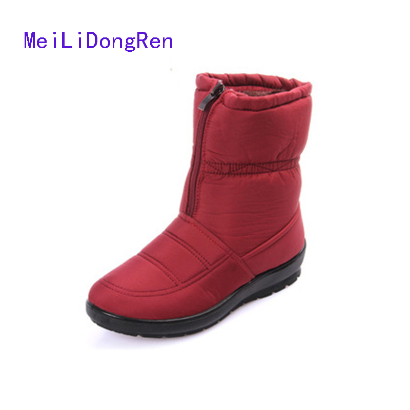 Women Winter Boots Fur Inside Snow Boots 2015 Fashion Wedge Short Boots Cotton Casual Warm Shoes Cotton-padded Ankle Boots veowalk winter warm fur women short ankle boots cotton embroidered ladies casual canvas 5cm heels wedge platform booties shoes