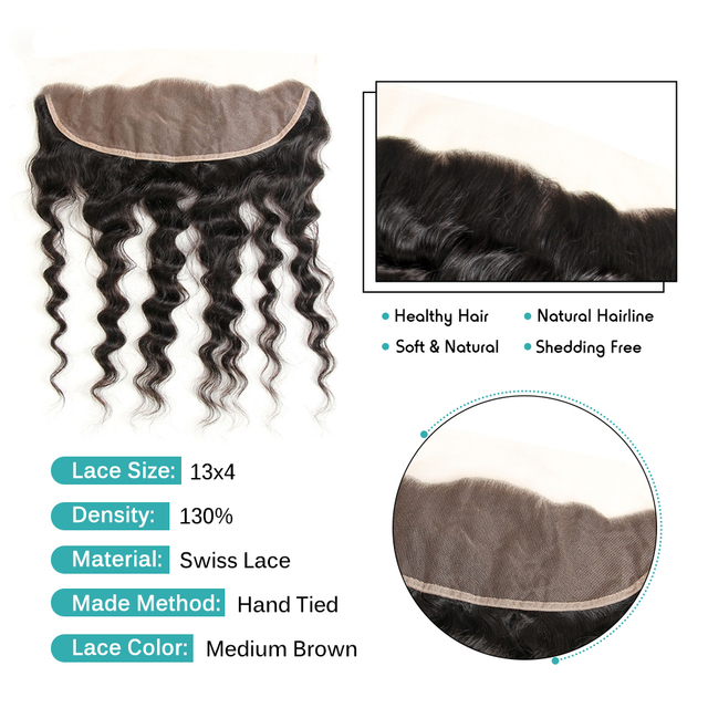 VeryYu 10-20 inch 13×4 Free Middle Part Natural Color 100% Remy Human Hair Hair Extensions & Wigs  VerYYu