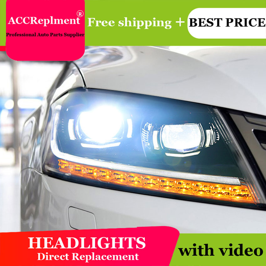 Auto Lighting Style Head Lamp for VW jetta led headlights 2012-2016 jetta headlight Magotan led H7 hid Bi-Xenon Lens low beam car styling led head lamp for vw jetta led headlight 2012 2017 for jetta head lights drl h7 hid bi xenon lens angel eye low beam
