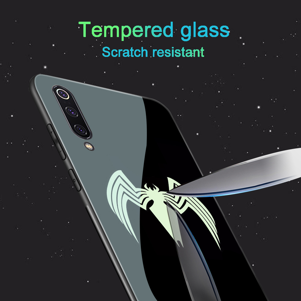 Image 5 - ciciber For Xiaomi MI 9 8 A2 6X MIX 2 2S PocoPhone F1 Glass Phone Cases for Redmi Note 7 6 5 Pro Plus Cover Coque Marvel Venom-in Fitted Cases from Cellphones & Telecommunications