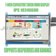 7 بوصة LCD بالسعة شاشة تعمل باللمس التوت Pi3 1024X600