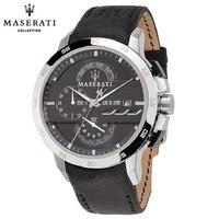 Maserati Кварцевые наручные часы черный Бизнес модные часы хронограф Водонепроницаемый Нержавеющаясталь Наручные часы R8824407882