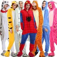 Unicorn pajamas Adult Onesies Panda Pikachu Animal Cartoon Jumpsuit Adult the man Women Pajamas Hooded cosplay Kigurumi S L M XL
