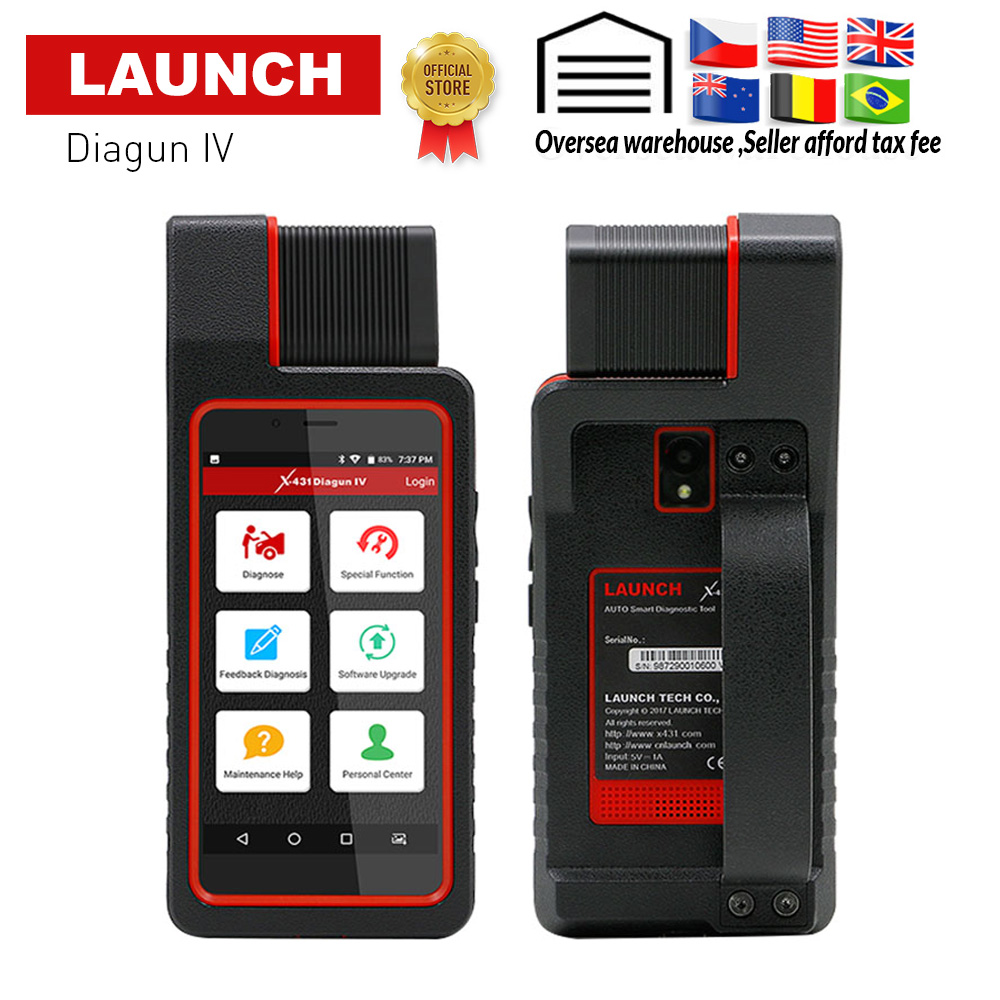 LAUNCH X431 Diagun IV OBD2 Auto Full System Diagnostic Tool Support Bluetooth Wifi X 431 Diagun