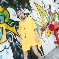 Summer Style T Shirt Women Plus Size Harajuku Korea Loose Solid Fashion Half Irregular Casual New