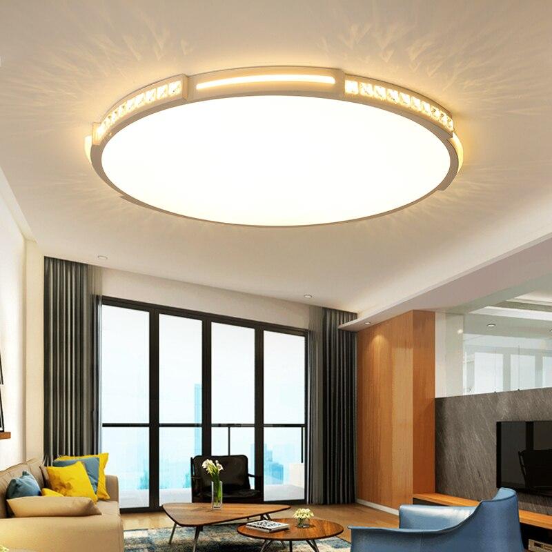 Ronde 42/52/80 cm Cristal Moderne Led Lustre Luminaires plafonnier led Plafond lustre en cristal Pour Le salon chambre lampe