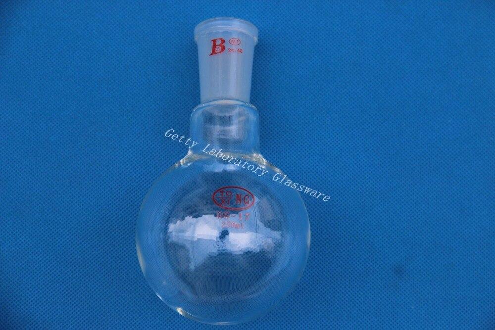 Rundkolben, einzel hals, 250 ml, Gemeinsame 24/40, schwere wand