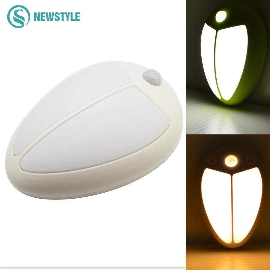 Mini IR Sensor Night Light LED Wall Lamp Human body Induction Light for Bedroom Bedside Lamp Indoor Lighting