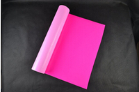 (0.5*5M) Neon Pink 2.5 Square Meter of High Quality PU Heat Transfer Vinyl Film for T shirts Iron on Vinyl For Heat Press NPK611