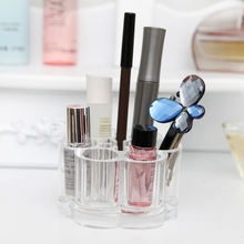 New Fashion Acrylic Jewelry Makeup Brush Holder Stand Case Transparent Storage Organizer