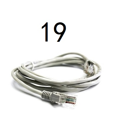 19 # MLLSE CAT5 câble Ethernet plat réseau Ethernet cordon de raccordement câble LAN CAT5