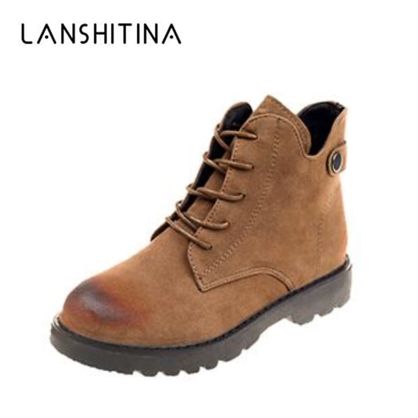Women Boots 2018 Autumn British Classic Leather Winter Boots Platform Casual Shoes Flat Heels Motorcycle Women's Bota Feminina ultrafire lc 14500 rechargeable 900mah 3 6v li ion battery blue