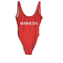 MAMACITA Red Women Bodysuits Sexy High Cut Swimwear Monokini One Piece Swimsuit Low Back Bathing Suit Trikini Maillot De Bain(China)