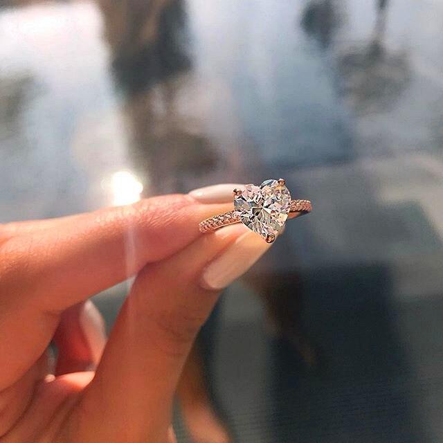 Luxus Weibliche Kleine Herz Ring Mode Braut Finger Ring Silber Farbe Hochzeit Schmuck Versprechen Liebe Engagement Ringe Für Frauen Hochzeits- & Verlobungs-schmuck Schmuck & Zubehör
