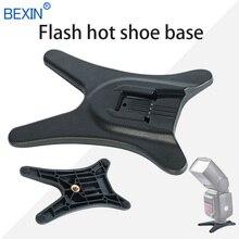 BEXIN универсальная подставка для вспышки, черная, высокое качество, подставка для вспышки, база для обуви, адаптер для Nikon Canon 580EX SB600 SB900 Speedlite
