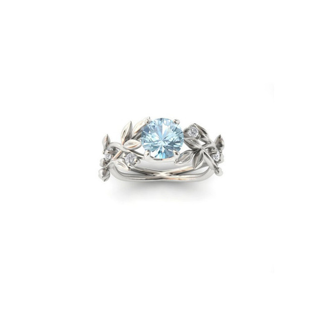 Women's Floral Embellished Crystal Ring