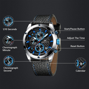 Image 3 - Relogio Masculino MEGALITH Men Watches Top Brand Luxury Watch For Men Waterproof Leather Srtap Quartz Clock 8004 Wholesale Price