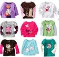 Sale Retail brand 2016 100% cotton girls tshirt Spring Autumn baby girls t-shirt kids clothes children's apparel Cartoon rabbit