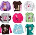 Venta Al Por Menor de la marca 2016 100% algodón niñas camiseta de Primavera Y Otoño de los bebés camiseta de los niños ropa de niños ropa de la Historieta del conejo