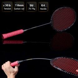 b1961e578e Ultra Luce 75g Curva a Forma di Racchetta Da Badminton Offensiva di  Carbonio Racchetta Da Badminton