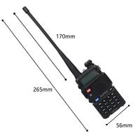 מכשיר הקשר 2pcs Baofeng UV5R שני הדרך רדיו מיני נייד 5W Dual Band VHF UHF מכשיר הקשר UV5R FM משדר ציד Ham סורק רדיו (4)