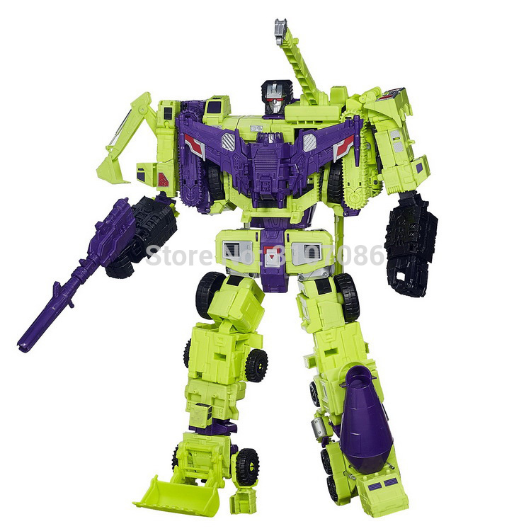 HZX Transformation Devastator G1 IDW 6IN1 Oversize Action Figure Robot Toys Foam Box